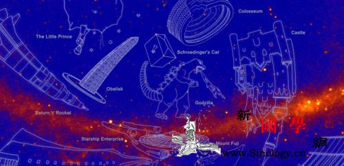 """NASA命名新星座哥斯拉、绿巨人都""""_埃菲尔铁塔-天体-巨人-"""