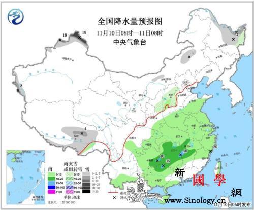 10-12日新疆北部有较强降雪江南等_降水量-等地-西南地区-