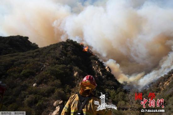 美加州再添2处新起火点专家:气候变迁_加利福尼亚州-加州-山火-