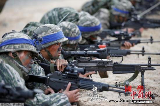 朝鲜官媒连批美韩军演_海军陆战队-朝鲜半岛-鹞鹰-