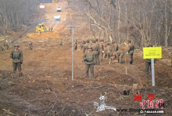 韩朝连通江原道非军事区内的军用道路_朝鲜半岛-国防部-非军事-