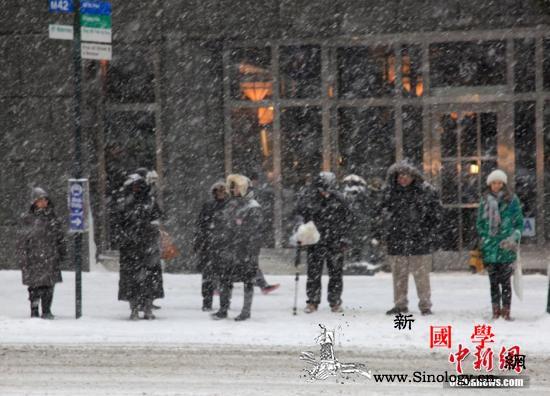 冬季风暴席卷美东南地区30万户停电数_雪车-美国-暴风雪-