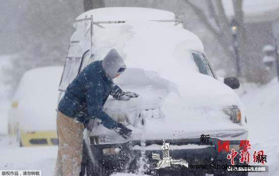 美国东南部暴风雪致死至少一人_北卡罗来纳州-美东-雪车-