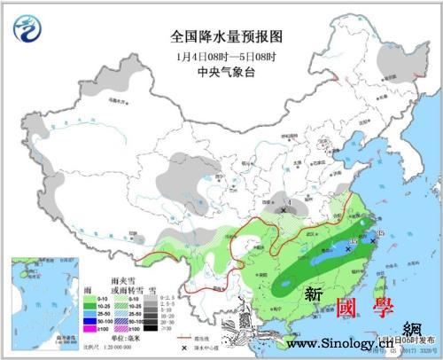 华北黄淮等地霾减弱南方雨雪增多难放晴_华北-降水量-等地-