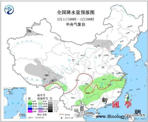 未来三天西北华北有降雪南方多阴雨天气_西北地区-华北-等地-