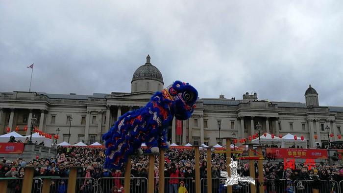 """伦敦特拉法加广场庆典掀起""""中国风""""_华埠-伦敦-英国-庆典-"""