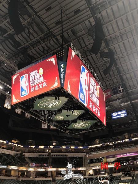 美国NBA印第安纳步行者队举办201_印第安纳-彩绸-观众-春节-