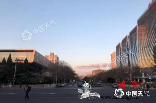 北京蓝天上线阵风可达8级夜间最低气温_阵风-北京-气温-