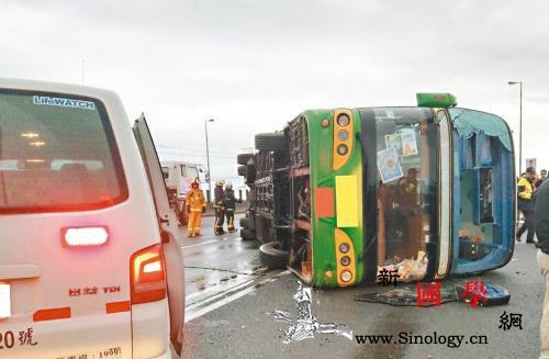 台游览车翻覆致30多人受伤初步判定驾_联合报-游览车-台湾-