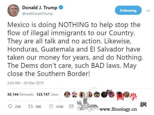 特朗普下令中断对中美洲三国援助给美国_洪都拉斯-危地马拉-美洲-
