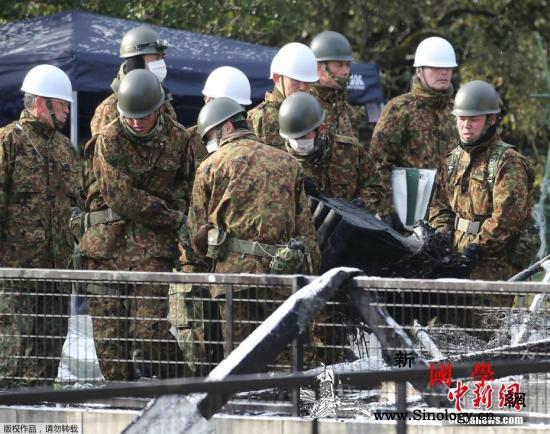 日防相视察自卫队驻地民众抗议:我们_弹药库-陆上-日本-