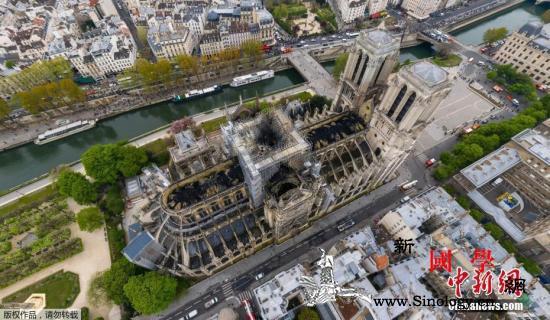 巴黎圣母院整修期间法国或建木制临时教_巴黎-法国-火灾-