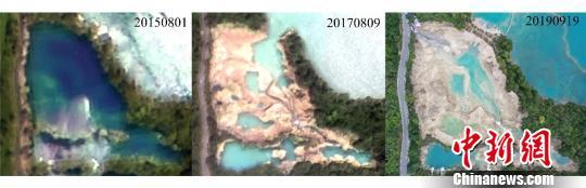 中科院空天院:遥感监测显示九寨沟已逐_遥感-瀑布-监测-
