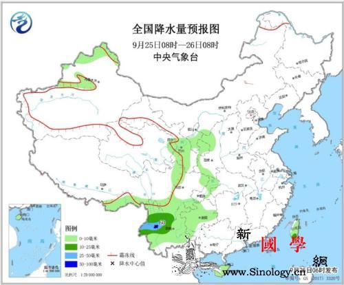 云南贵州等地有小到中雨河北山东等部分_降水量-等地-云南-