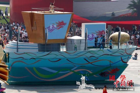 揭秘国庆群众游行各地彩车背后的科技元_天安门广场-彩车-天津-