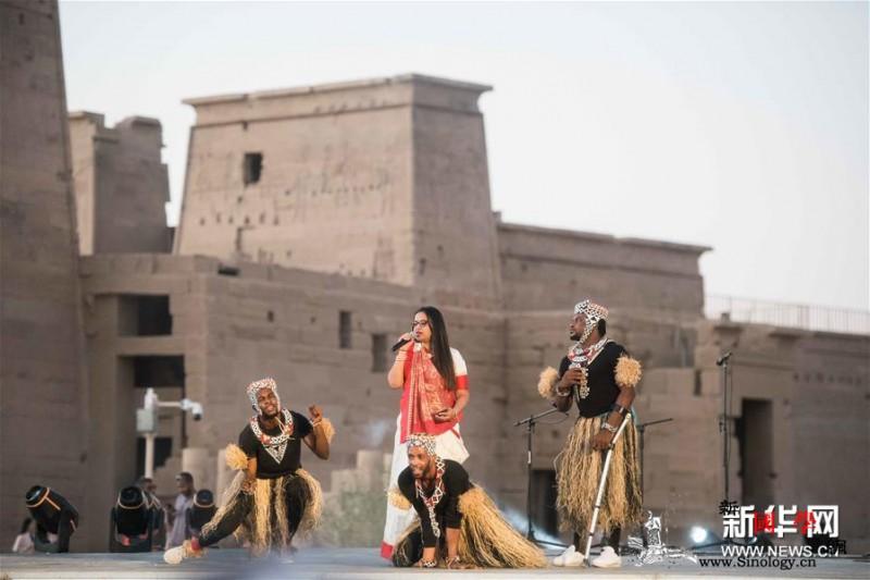 第四届中非艺术节在埃及阿斯旺开幕_阿卜杜勒-埃及-神庙-艺术节-