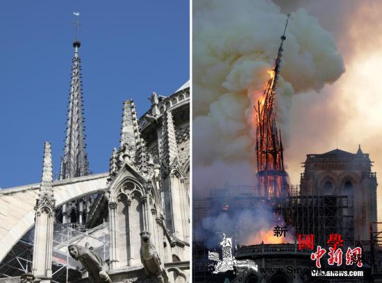 痛心!巴黎圣母院大火后又一百年教堂_尖塔-巴黎-法国-