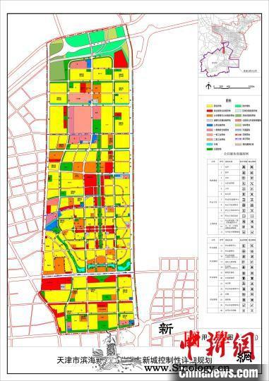 天津港东新城规划草案公示定位智能生态_草案-用地-东新-