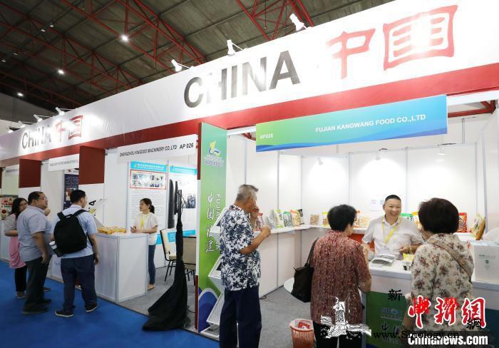 中国品牌食品亮相印尼国际食品展(图)_古田县-印尼-福建-