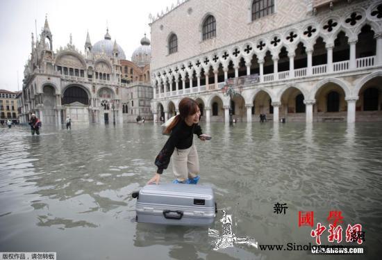 """威尼斯遭50年一遇洪灾侵袭""""水城""""进_水城-水灾-意大利-"""