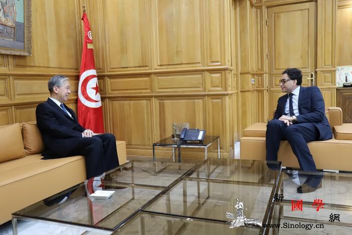 驻突尼斯大使会见突尼斯文化部长_穆罕默德-突尼斯-会见-部长-