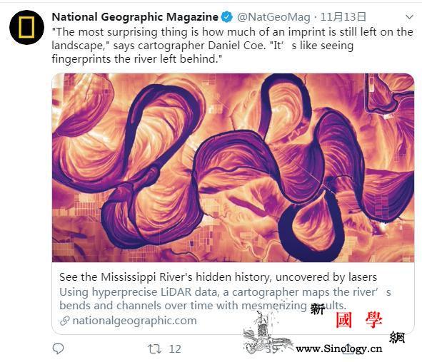 震撼美!这幅密西西比河的另类时光地图_密西西比河-丹尼尔-美国-