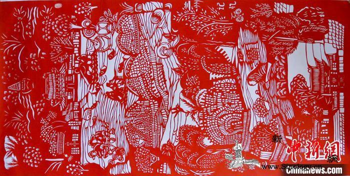 甘肃民间艺人借剪纸系情愫多元素展黄河_老街-兰州-剪纸-
