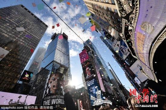 纽约时代广场有bombzhadan威_纽约市-纽约-年时-