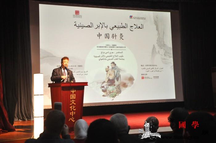 """""""中国针灸""""讲座在开罗中国文化中心举_开罗-针灸-讲座-埃及-"""