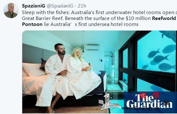 """可以""""与鱼共眠""""?澳大利亚首家海底酒_浮台-哈迪-澳大利亚-"""
