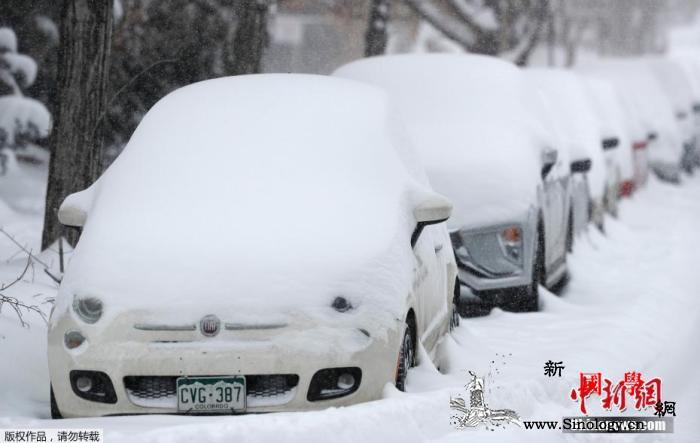 纽约迎来今冬首场大雪_纽约市-进港-降雪-