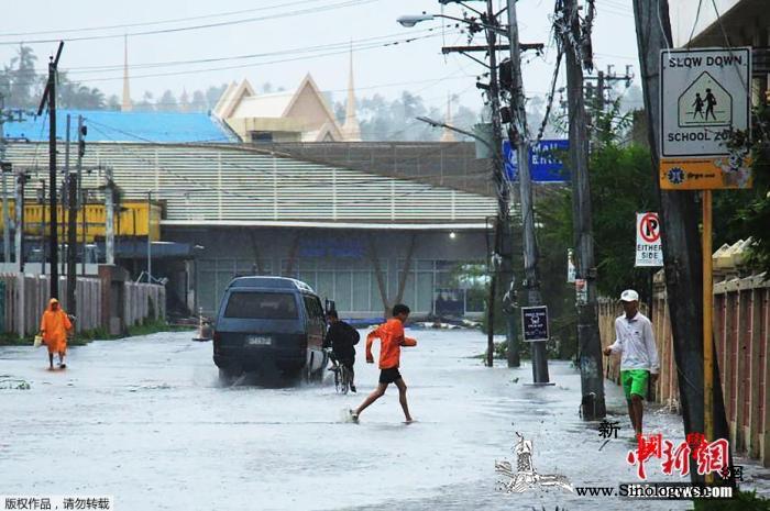 """机场关闭、民众撤离台风""""北冕""""侵袭菲_马尼拉-菲律宾-台风-"""