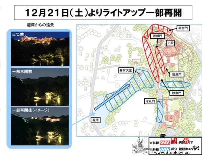 迈出重建第一步!日本冲绳首里城恢复夜_冲绳-正殿-烧毁-