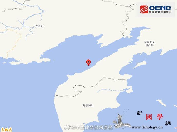俄罗斯堪察加半岛附近海域发生5.3级_台网-震源-俄罗斯-