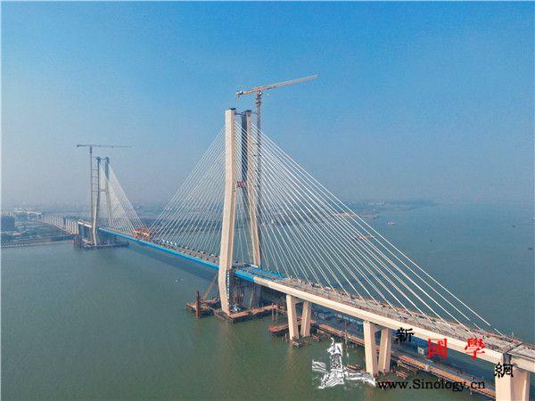 世界首座海铁联运客货两用双塔铁路斜拉_南沙-斜拉桥-合龙-