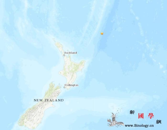 新西兰东北部海域发生5.0级地震震源_美国-海域-截图-