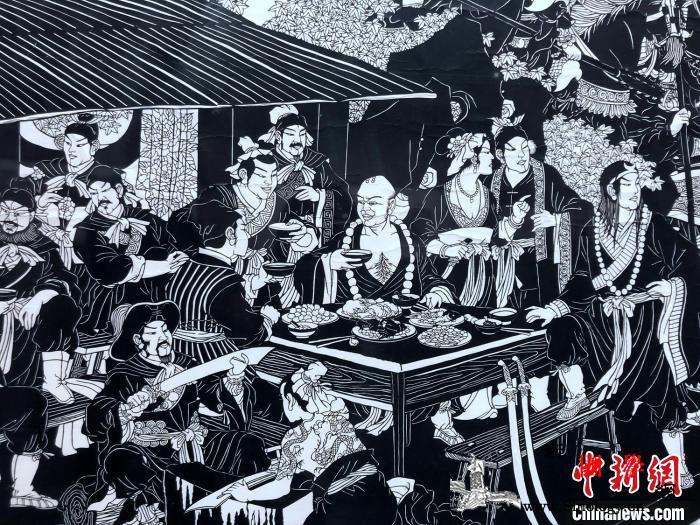 """""""宝凤剪纸艺术展""""长沙开展剪纸版《四_水浒传-剪纸-美术馆-"""