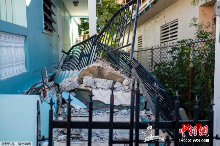 美海外属地波多黎各连遭强震侵袭著名景_波多黎各-属地-美国-