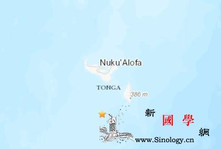 汤加南部海域发生5.3级地震震源深度_汤加-震源-美国-
