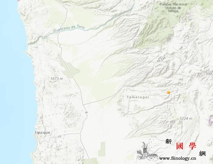 智利东部发生5.0级地震震源深度10_智利-震源-画中画-