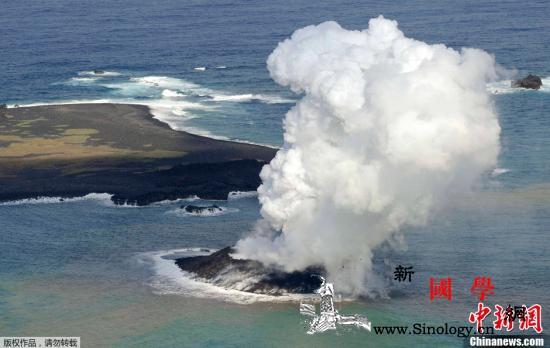 日本西之岛发生火山喷发烟尘最高达27_画中画-喷发-日本-