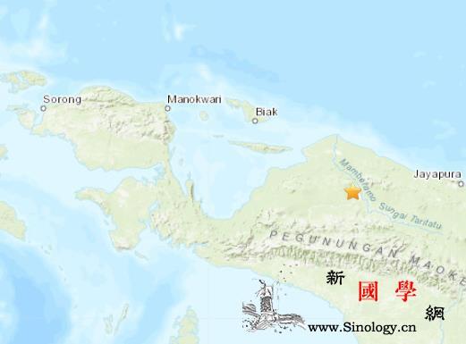 印尼巴布亚省发生5.0级地震震源深度_印尼-震源-美国-