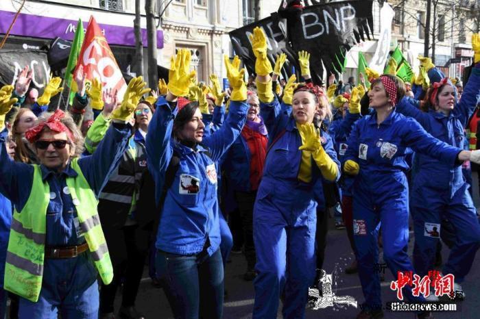法国工会再发起抗议游行以反对退休制度_巴黎-法国-罢工-