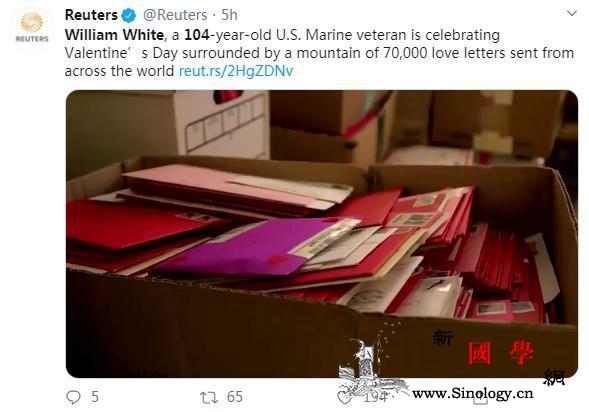 暖!美国104岁老兵迎特别情人节7万_怀特-情人节-社交-