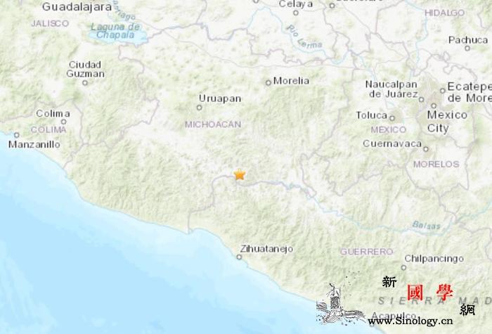 墨西哥中西部发生4.2级地震震源深度_墨西哥-震源-美国-