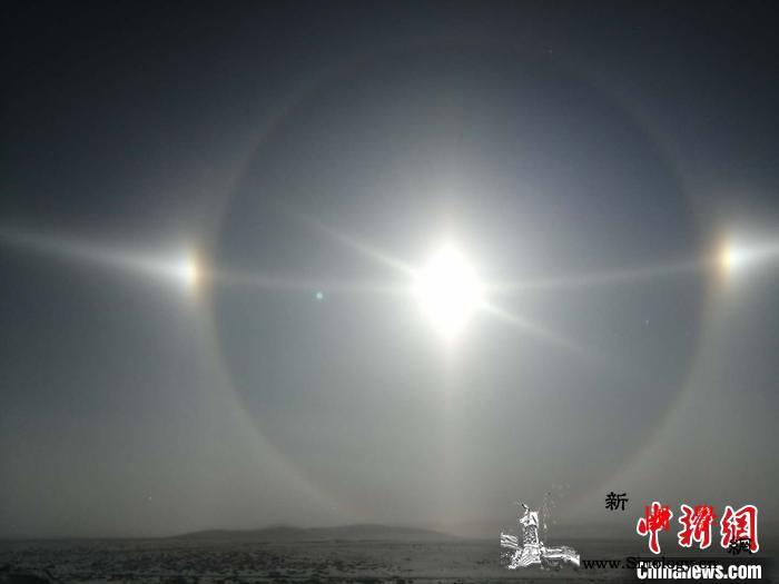 内蒙古多地出现幻日奇观持续约1个半小_柱状-气象局-画中画-