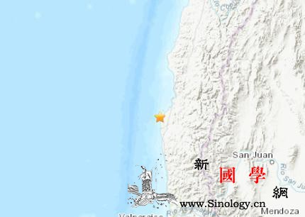 智利西部海域发生5.0级地震震源深度_智利-震源-美国-