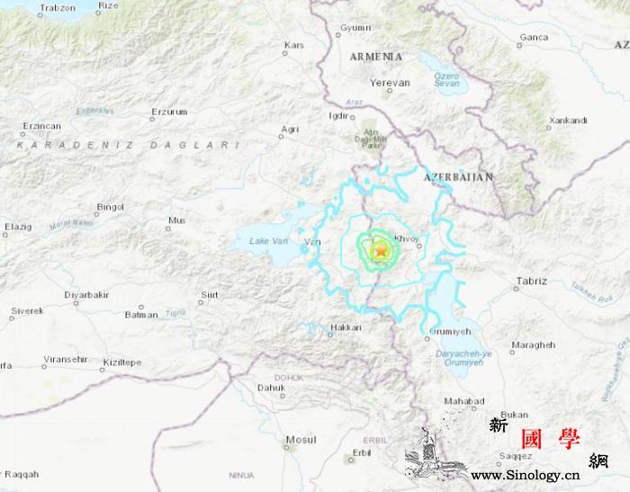 土耳其伊朗边境附近发生5.7级地震震_土耳其-伊朗-美国-