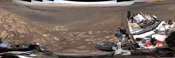 """""""好奇号""""奉上视觉盛宴NASA公布高_火星-环形山-盖尔-"""