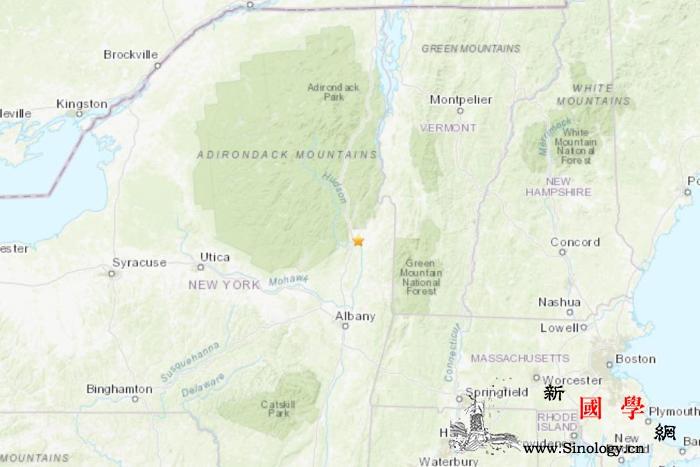 美纽约州首府北部发生3.1级地震震源_纽约州-巴尼-首府-